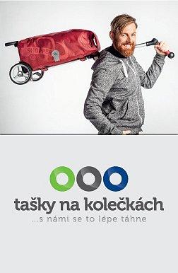 UNUS SHOPPER® FUN - nákupní taška na kolečkách s tyčovým madlem