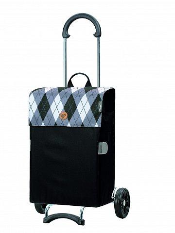 Nákupní taška na kolečkách Andersen Scala Shopper Anea šedá, 44l