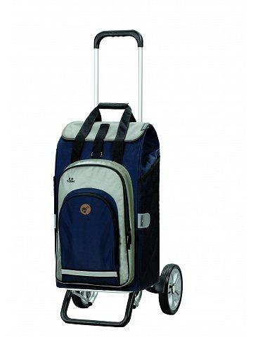 Nákupní taška na kolečkách Andersen Alu Star Shopper Hydro 2.0 modrá