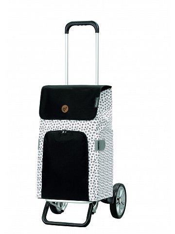 Nákupní taška na kolečkách Andersen Alu Star Shopper Mara, bílá, 47l
