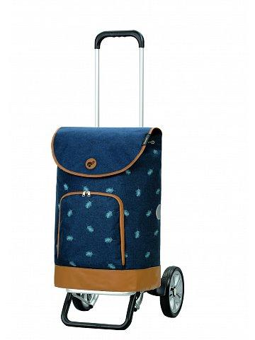 Nákupní taška na kolečkách Andersen Alu Star Shopper Holm, modrá, 41l