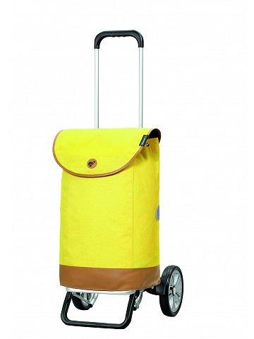 Nákupní taška na kolečkách Andersen Alu Star Shopper Emil, žlutá, 47l