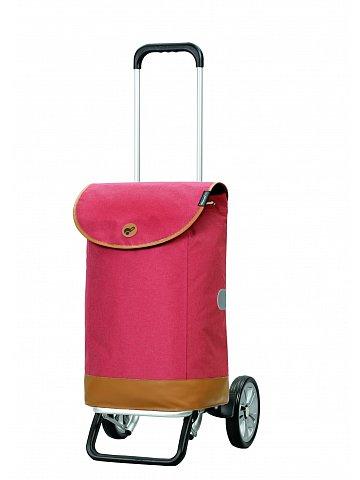 Nákupní taška na kolečkách Andersen Alu Star Shopper Emil, červená, 47l