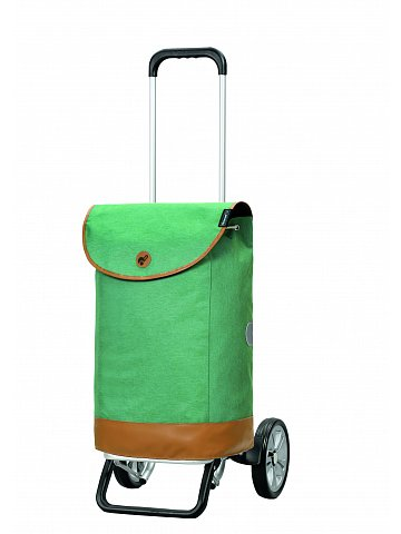 Nákupní taška na kolečkách Andersen Alu Star Shopper Emil, zelená, 47l