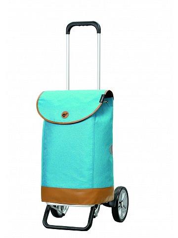 Nákupní taška na kolečkách Andersen Alu Star Shopper Emil, modrá, 47l