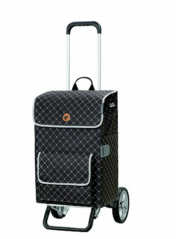 Nákupní taška na kolečkách Andersen Alu Star Shopper Tamo, šedá, 51l
