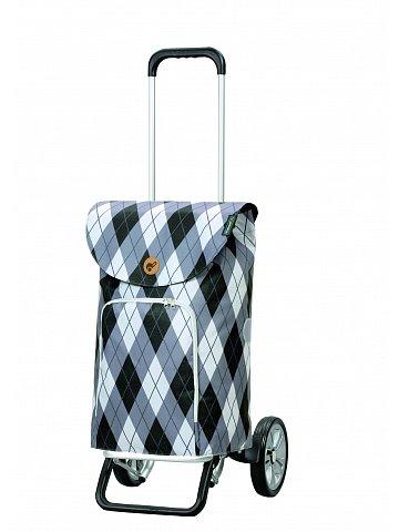 Nákupní taška na kolečkách Andersen Alu Star Shopper Arik, šedá, 41l