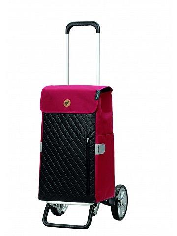 Nákupní taška na kolečkách Andersen Alu Star Shopper Mari, červená, 45l
