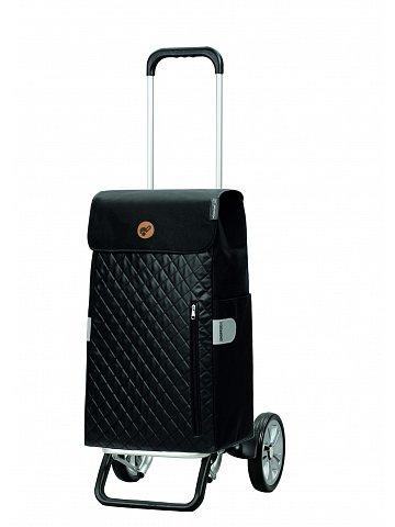 Nákupní taška na kolečkách Andersen Alu Star Shopper Mari, černá, 45l