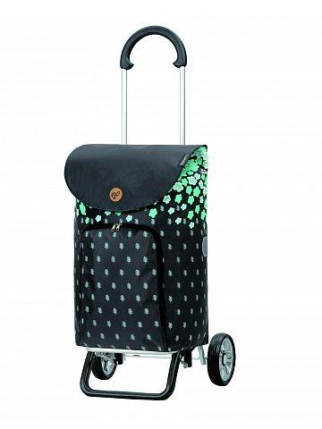 Nákupní taška na kolečkách Andersen Scala Shopper Plus Lily, tyrkysová, 41l
