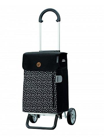 Nákupní taška na kolečkách Andersen Scala Shopper Plus Tuva, černá, 38l