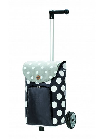 Nákupní taška na kolečkách Andersen Unus Shopper Dots šedá