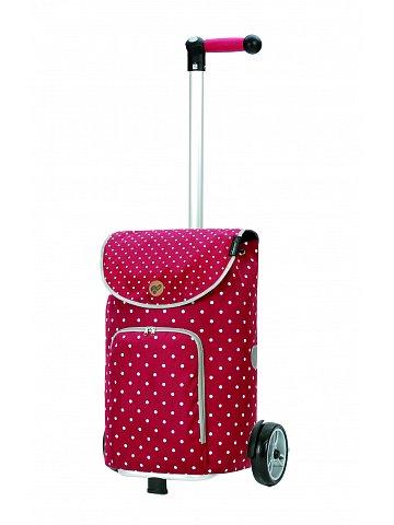 Nákupní taška na kolečkách Andersen Unus Shopper Ole červená
