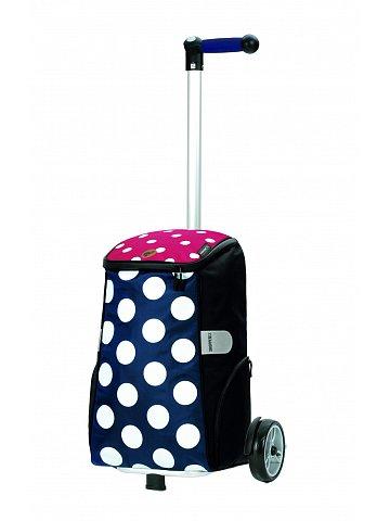 Nákupní taška na kolečkách Andersen Unus Shopper Mats modrá