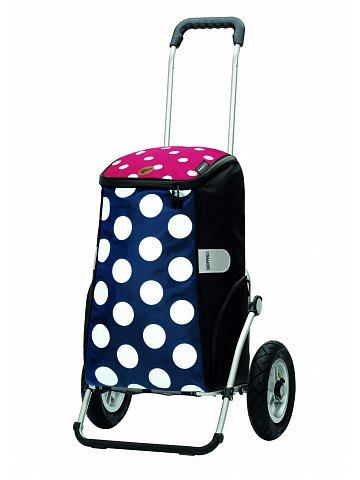 Nákupní taška na kolečkách Andersen Royal Shopper Mats modrá