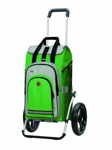 Nákupní taška na kolečkách Andersen Royal Shopper Hydro 2.0 zelená, kolečko s kul.ložisky 29 cm