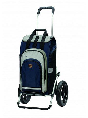Nákupní taška na kolečkách Andersen Royal Shopper Hydro 2.0 modrá, kolečko s kul. ložisky 29 cm