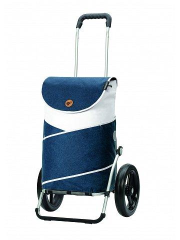 Nákupní taška na kolečkách Andersen Royal Shopper  Jarl modrá