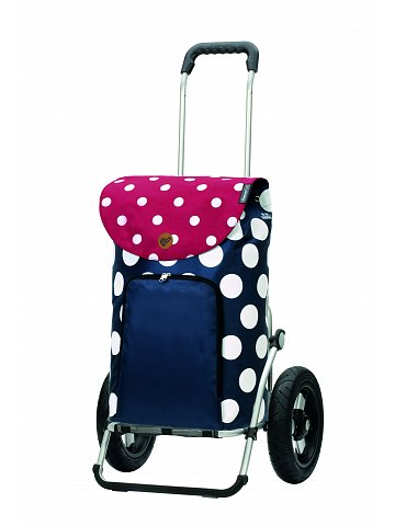Nákupní taška na kolečkách Andersen Royal Shopper Dots modrá