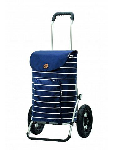Nákupní taška na kolečkách Andersen Royal Shopper Mia modrá