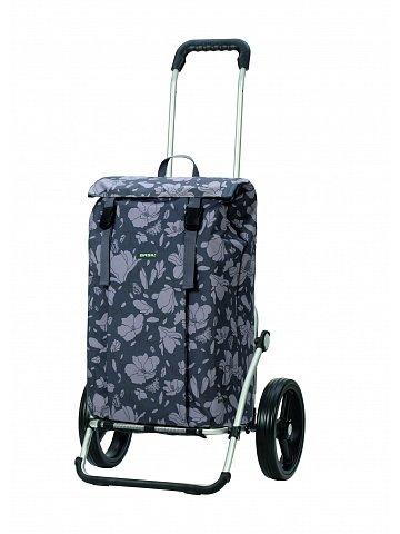 Nákupní taška na kolečkách Andersen Royal Shopper Basil Magnolia, šedá, 37l