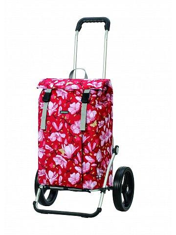 Nákupní taška na kolečkách Andersen Royal Shopper Basil Magnolia, červená, 37l