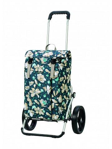 Nákupní taška na kolečkách Andersen Royal Shopper Basil Magnolia, modrá, 37l
