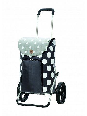 Nákupní taška na kolečkách Andersen Royal Shopper Dots šedá