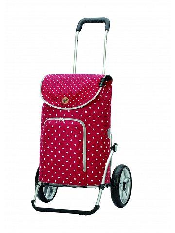 Nákupní taška na kolečkách Andersen Royal Shopper® Ole červená, 41l, kolečka s kuličkovými ložisky