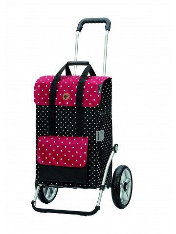 Nákupní taška na kolečkách Andersen Royal Shopper® Rul, černá, 51l, kolečka s kuličkovými ložisky