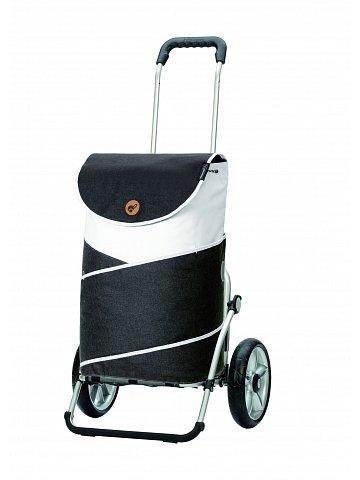 Nákupní taška na kolečkách Andersen Royal Shopper® Jarl, šedá, 41l, kolečka s kuličkovými ložisky