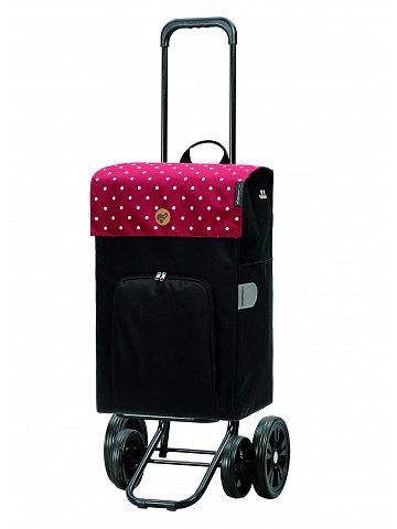 Nákupní taška na kolečkách Andersen Quattro Shopper Malit červená