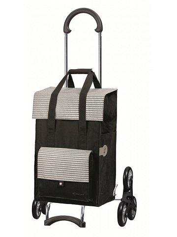 Nákupní taška Andersen TREPPENSTEIGER SCALA SHOPPER® MILLA - DO SCHODŮ, černá