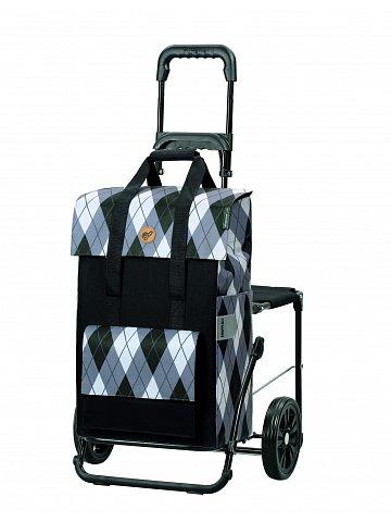Nákupní taška se sedátkem Andersen Komfort Shopper Ine šedá