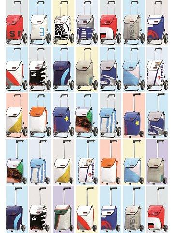 Nákupní taška Andersen UNUS SHOPPER® FUN  TRUCK- taška z použité plachty nákladních vozidel - každá taška unikát!