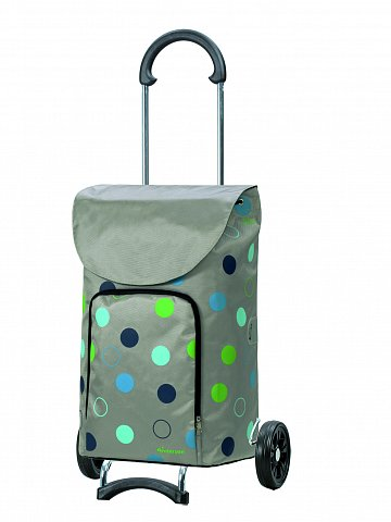 Nákupní taška na kolečkách Andersen SCALA SHOPPER® KIRA, stříbrná, 41l