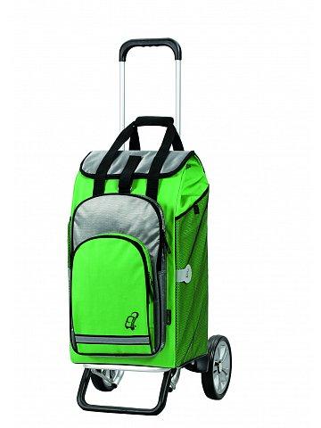 Nákupní taška na kolečkách Andersen ALU STAR® SHOPPER HYDRO, zelená, 60l