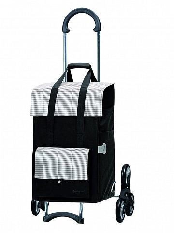 Nákupní taška Andersen TREPPENSTEIGER SCALA SHOPPER® MILLA - DO SCHODŮ, černo-béžová