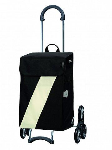 Nákupní taška Andersen TREPPENSTEIGER SCALA SHOPPER® VIKA - DO SCHODŮ, bílá