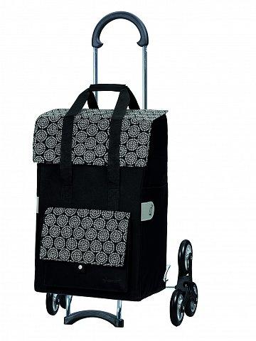 Nákupní taška Andersen TREPPENSTEIGER SCALA SHOPPER® VARA - DO SCHODŮ, černá