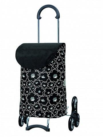 Nákupní taška Andersen TREPPENSTEIGER SCALA SHOPPER® LILO - DO SCHODŮ, černá