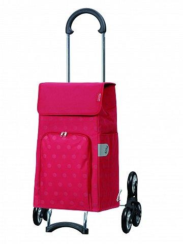 Nákupní taška Andersen TREPPENSTEIGER SCALA SHOPPER® LIZZY - DO SCHODŮ, červená