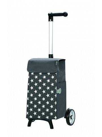 Nákupní taška Andersen UNUS SHOPPER® FUN LIS, šedá, hvězdičky