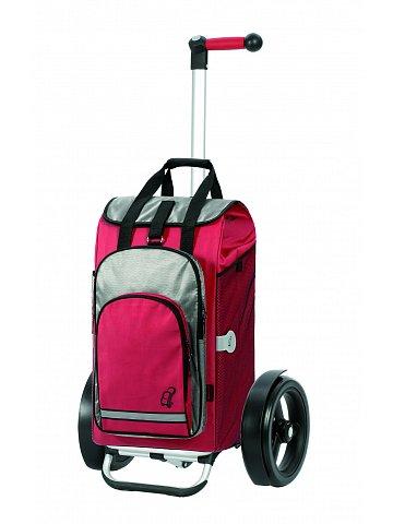Nákupní taška Andersen TURA SHOPPER® HYDRO, kolečka s kuličkovými ložiskami, červená