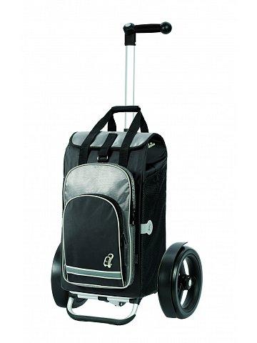 Nákupní taška Andersen TURA SHOPPER® HYDRO, kolečka s kuličkovými ložiskami, černá