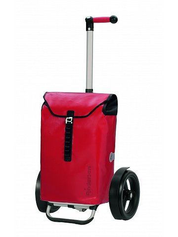 Taška na kolečkách Andersen TURA SHOPPER® ORTLIEB, kolečka s kuličkovými ložiskami, červená