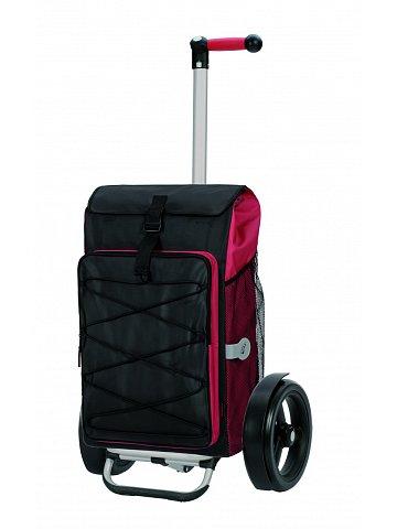 Nákupní taška Andersen TURA SHOPPER® THOR, kolečka s kuličkovými ložisky, červená