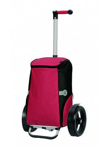 Nákupní taška Andersen TURA SHOPPER® RUNE, kolečka s kuličkovými ložisky, červená