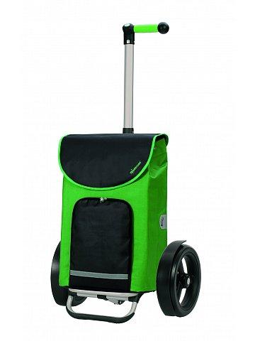 Taška na kolečkách Andersen TURA SHOPPER® CLINT, kolečka s kuličkovými ložiskami, zelená