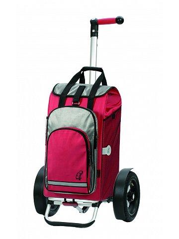Nákupní taška Andersen TURA SHOPPER® HYDRO, nafukovací kolečka s kuličkovými ložisky, červená